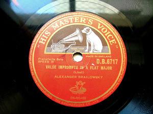 BRAILOWSKY A. piano Liszt/Liadoff HMV DB6717 78rpm