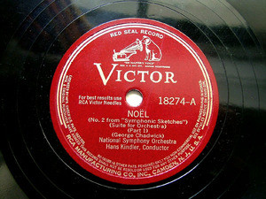 KINDLER HANS cond Chadwick VICTOR 18274 12'' 78rpm