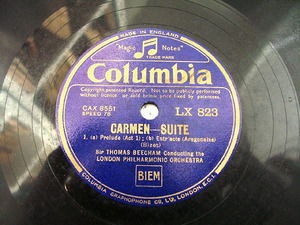 BEECHAM T. cond Bizet COLUMBIA LX823 12'' 78rpm