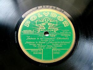 JOSEPH SNAGA Cond POLYDOR 19733 78rpm OFFENBACH