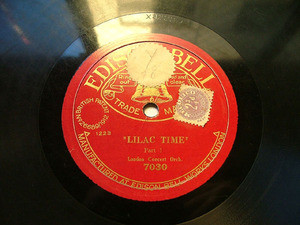 LONDON CONCERT ORCH Edison Bell 7030 78rpm LILAC TIME