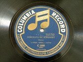LUFSKY, STEHL, PINTO trio COLUMBIA C1050 VIOLIN FLUTE HARP 78rpm SCHUBERT & TITL Serenades