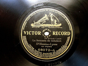 D'ALMAINE & LYONS / SORLIN  Victor 68072 78rpm PUCCINI