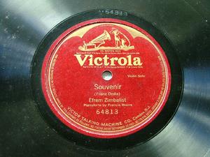 EFREM ZIMBALIST Violin VICTROLA 64813 1side 78rpm DRDLA