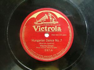 MISCHA ELMAN Victrola 597 VIOLIN 78rpm HUNGARIAN DANCE