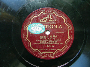 E. ZIMBALIST Scr Victrola 1154 VIOLIN 78rpm PERSIAN SONG