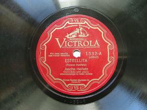 JASHA HEIFETZ Scr Victrola 1332 VIOLIN 78rpm ESTRELLITA