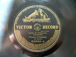 D'ALMAINE / RATTAY violin Black VICTOR 62562 10'' 78rpm