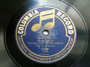 SORLIN VICTOR Cello Gounod COLUMBIA C92 10'' 78rpm