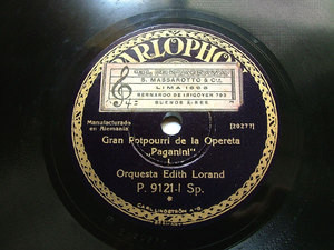 EDITH LORAND Orch PARLOPHONE P-9121 78rpm