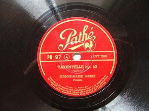 JEANNE-MARIE DARRE Pathe 97 PIANO 78rpm CHOPIN
