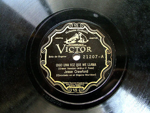 JESSE CRAWFORD Arg SCRLL VICTOR 21207 PIANO 78rpm