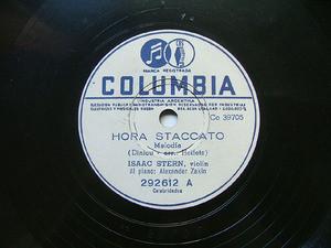 ISAAC STERN Arg COLUMBIA 292612 VIOLIN 78rpm TIJUCA