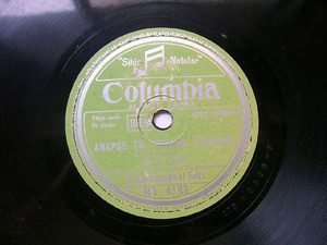 LIDIA & KIRIAZIS Columbia 4541 TURKISH 78rpm ILIOVASIL
