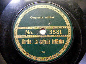 ORQ MILITAR Private RECORD No 3581 RARE MILITAR 78rpm