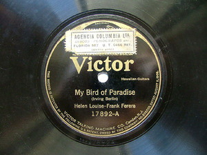 LOUISE & FERERA Victor 17892 HAWAIIAN GUITARS 78rpm
