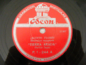JACINTO FLORES Private ODEON 244 78rpm TIERRA ARADA