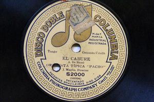 """ORQ TIPICA """"PACHO"""" Columbia S2000 TANGO 78rpm EL CABURE"""