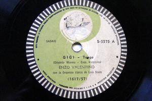 ENZO VALENTINO Arg TK 5575 TANGO 78rpm BARRA DE ORO