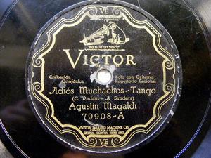 MAGALDI & NODA scr VICTOR 79908 78rpm ADIOS MUCHACHOS