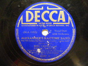 BING CROSBY & CONNIE BOSWELL Decca 1887 78 ALEXANDER'S RAG TIME