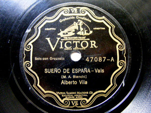 ALBERTO VILA Scr VICTOR 47087 SPANISH 78rpm MUNEQUITA