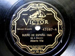 ALBERTO VILA Scr VICTOR 47087 SPANISH 78rpm MUÑEQUITA / SUEÑO DE ESPAÑA EX