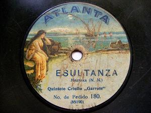 QUINTETO GARROTE Atlanta 180 TANGO 78rpm ESULTANZA