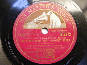 BENNY GOODMAN & L. HAMPTON hmv B.8872 JAZZ 78 THE BLUES IN YOUR FLAT