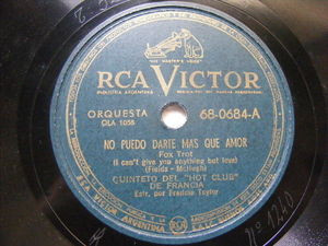 "5to HOT CLUB DE FRANCIA Victor 68-0884 78 I CAN""T GIVE YOU ANYT/ LIMEHOUSE BLUES"