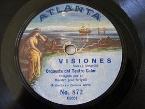 ORQ TEATRO COLON Rare ATLANTA 872 78rpm AMAZONAS