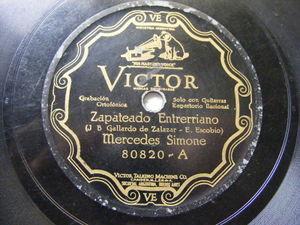 MERCEDES SIMONE Victor 80820 TANGO 78 ZAPATEADO ENTRERRIANO / PELECHASTE