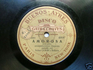 GOBBI Rare GATH & CHAVES 4898/22 SPANISH 78rpm AMOROSA