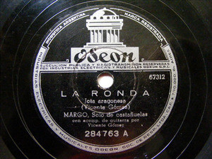 MARGO & VICENTE GOMEZ Arg ODEON 284763 SPANISH 78rpm