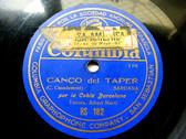 COBLA BARCELONA Columbia 182 SPANISH 78rpm CANCO DEL