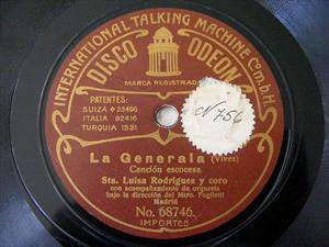 LUISA RODRIGUEZ Bw ODEON 68746 SPANISH 78rpm GENERALA
