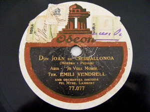 BUGATTO, VENDRELL, MASSANES ODEON 77078 SPANISH 78rpm
