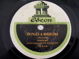 PEPE MARQUES Odeon 13848 SPANISH 78rpm UN PAJES BARCELO