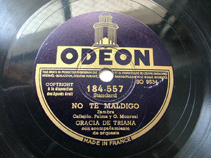 GRACIA DE TRIANA Odeon 184557 SPANISH 78rpm ALBAHACA