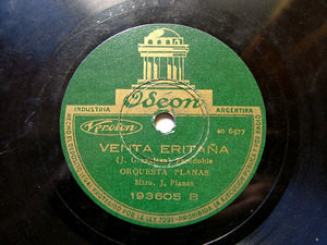 ORQ. PLANAS Odeon 193605 SPANISH 78rpm NICOLAS