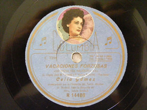 CELIA GAMEZ Columbia R 14480 SPANISH 78rpm MI VIDA