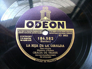 GRACIA DE TRIANA Odeon 184582 SPANISH 78rpm LA HIJA