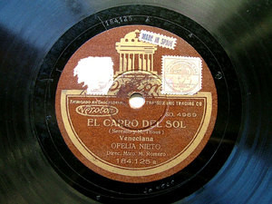 OFELIA NIETO Odeon 184125 SPANISH 78rpm CARRO DEL SOL