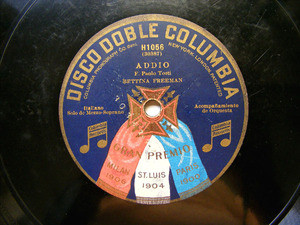 BETTINA FREEMAN Columbia H 1056 OPERA 78rpm ADDIO