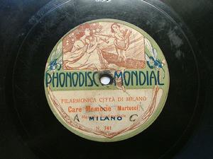 FILARMONICA CITTA DI MILANO Phonodisc 741 78rpm FASCINO