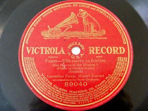 FARRAR & JOURNET Victrola 89040 OPERA 78rpm FAUST