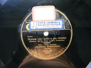 CELESTINA BONINSEGNA Columbia 5034 OPERA 78rpm NORMA