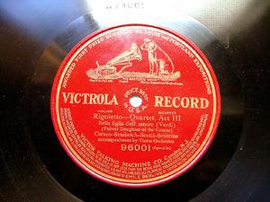 CARUSO, SEMBRICH, SCOTTI, SEVERINA Victrola 96001 78rpm VERDI