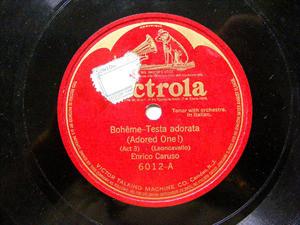 ENRICO CARUSO Victrola 6012 OPERA 78rpm TESTA ADORATA
