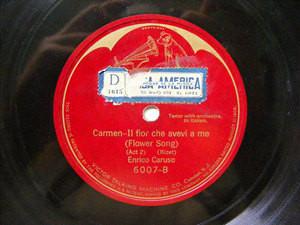 ENRICO CARUSO Victrola 6007 OPERA 78rpm FLOWEER SONG
